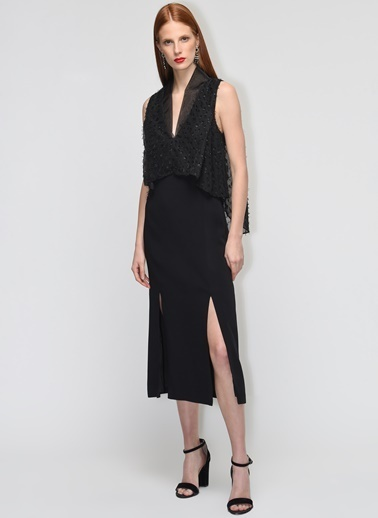Gamze Saracoglu Elbise Siyah